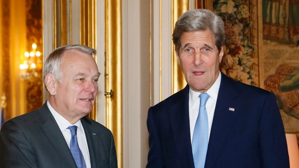 French Foreign Affairs Minister Jean Marc Ayrault and US Secretary of State John Kerry met for talks today