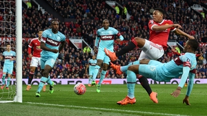 Anthony Martial scores to secure a draw for Man United