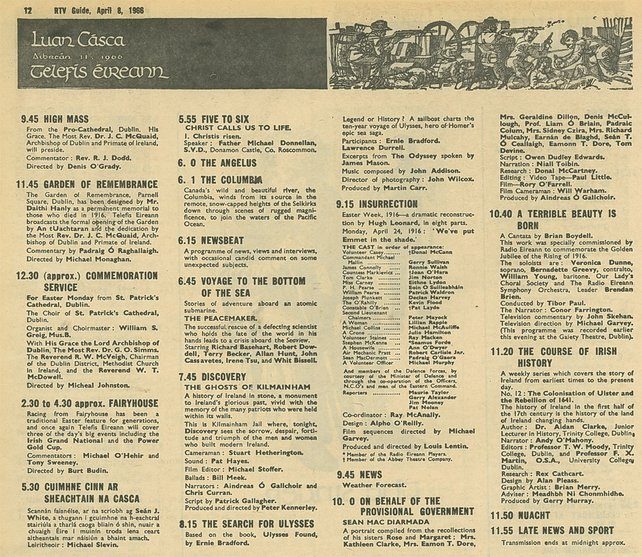 TV Listings from RTV Guide on Easter Monday 1966