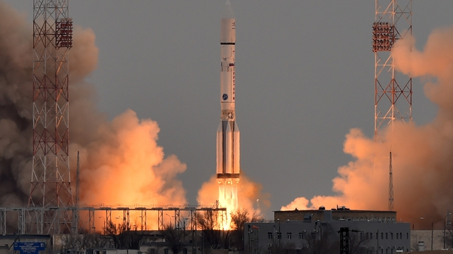 ExoMars spacecraft blasts off from its launch pad in Kazakhstan