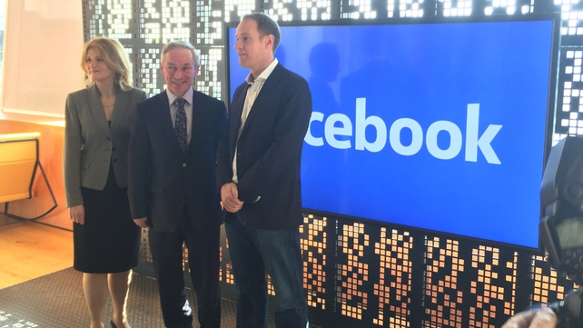 Head of Facebook in Ireland Gareth Lambe (r) said the expansion reaffirms the company's commitment to Dublin