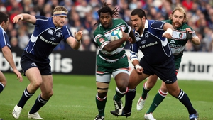 Seru Rabeni in action for Leicester in the RDS against Leinster in the 2007 Heineken Cup