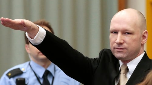 Anders Behring Breivik yesterday made a fascist salute in court, but did not today