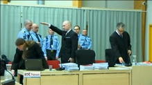 Mass killer Breivik gives Nazi salute in court