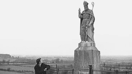 St Patrick Statue on Hill of Tara