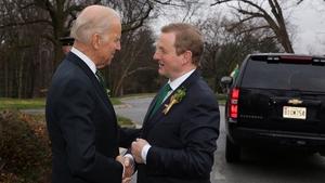 Enda Kenny and Joe Biden in Washington