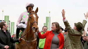 Jockey Ruby Walsh and owner Rich Ricci celebrate winning the Champion Hurdle with Annie Power