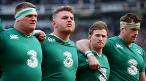 Nathan White, Finlay Bealham and Kieran Marmion, pictured with Jamie Heaslip, represented Connacht for Ireland against Italy