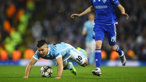 Sergio Aguero and Manchester City stumbled into the Champions League quarter-finals
