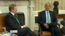 Kenny in Washington DC to present bowl of shamrock to President Barack Obama