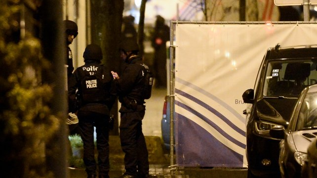 Belgian police officers at the scene of the incident