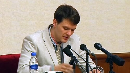 Otto Warmbier was accused of stealing a propaganda slogan from his hotel