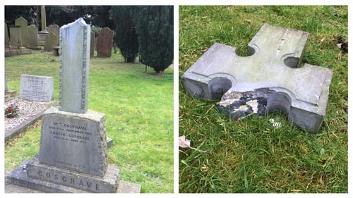 WT Cosgrave's grave was vandalised at the Goldenbridge Cemetery in Inchicore