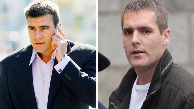 Anthony Callaghan (L) was sentenced to 12 years in prison and Paul Zambra (R) to 10 years