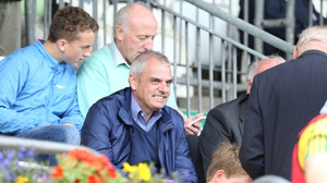 GAA fan Paul McGinley pictured at last summer's Ulster final between Donegal and Monaghan