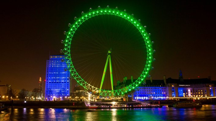 Landmarks all over the world go green for St Patrick's Day