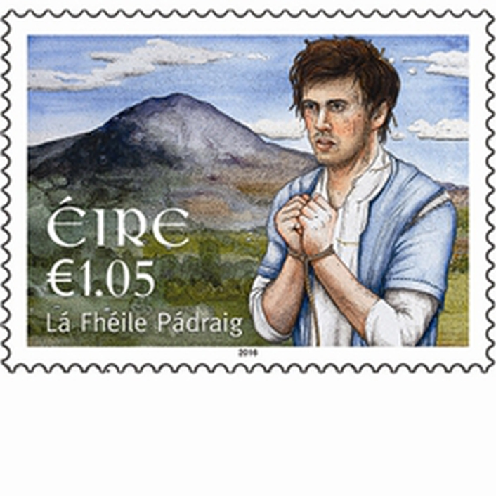 St Patrick's Day commemorative stamp designed by John Kindness
