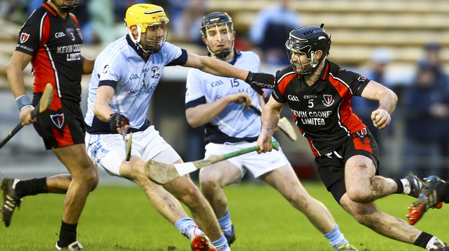David Breen (yellow helmet) in action against Oulart the-Ballagh in the All-Ireland semi-final