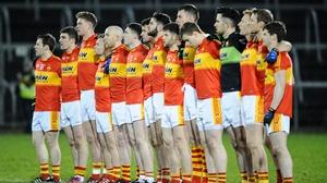Mitchels line up before their All-Ireland semi-final win over Crossmaglen Rangers in Cavan