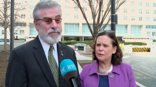 Gerry Adams said some people in the US administration 'seek to treat Sinn Féin differently'