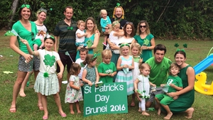 The wearing of the green Brunei style - thanks to Aisling Carey for the photo