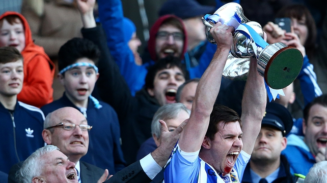 Ballyboden St Enda's captain Darragh Nelson lifts the cup