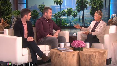 Ronan and Glenn joined Ellen on her show on Thursday