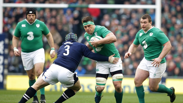 CJ Stander in action against Scotland