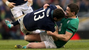 Johnny Sexton was accused of 'milking' an injury against Scotland
