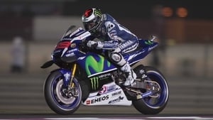 Jorge Lorenzo in action at Losail Circuit