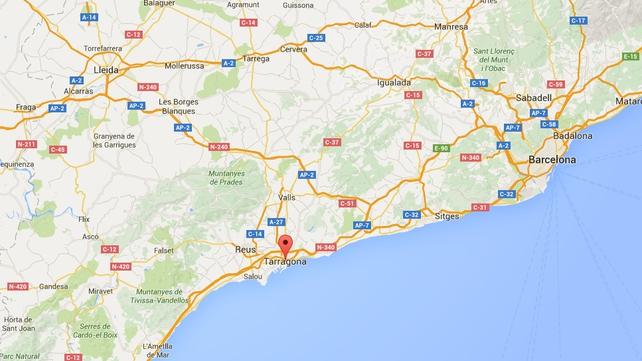 The coach was travelling on the AP-7 motorway near Tarragona in Spain