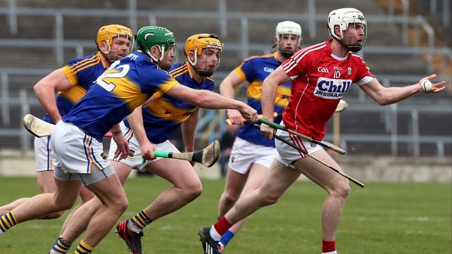 Cork's Brian Lawton clears under pressure