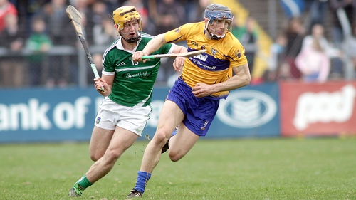 Clare's David McInerney and Tom Morrissey of Limerick