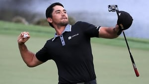 Jason Day celebrates after his triumph at the Arnold Palmer Invitational