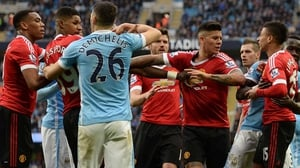 Tempers flare in the Manchester derby