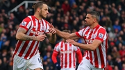 Jonathan Walters (R) returned for Stoke