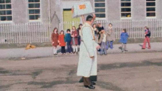 Lollipop Man in Ballinasloe, Galway 1976
