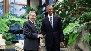 Raul Castro and Barack Obama met in the Palace of the Revolution in Havana