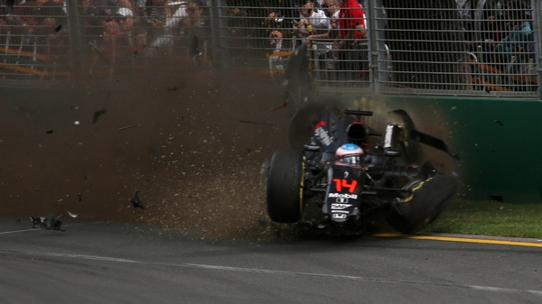 Fernando Alonso's crash brought back up questions over the proposed halo device