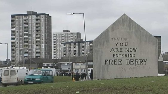 Ballymun as Derry for Bloody Sunday Film (2001)