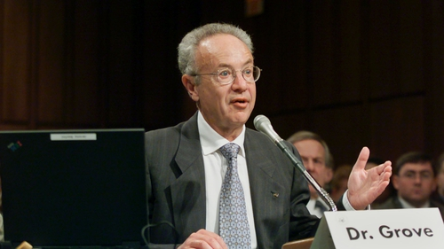 Andy Grove led Intel to a dominant position in the personal computer industry as the world's leading chip maker