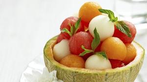 Add some chorizo and mozzarella to melon balls for a delicious and different starter