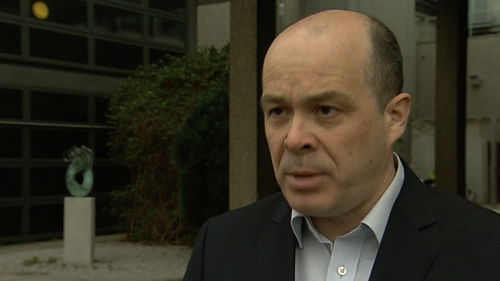 Denis Naughten was detained in the hospital overnight for observation