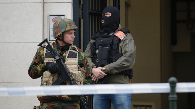 There is a heavy security presence in Brussels following Tuesday's attacks