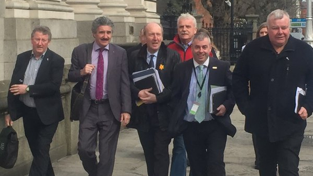 Shane Ross and other members of the Independent Alliance  attended talks with Fine Gael