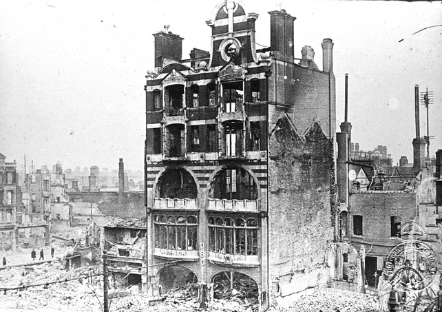 Ruins of DBC Luncheon Rooms, Dublin (1916)