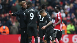 Klopp gives Benteke a piece of his mind after his miss against Southampton