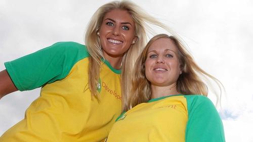Saskia Tidey (L) and Andrea Brewster