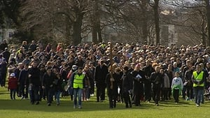 Crowds gathered in Dublin's Phoenix Park for a Way of the Cross walk