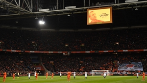 A minute's applause took place in the 14th minute at the Amsterdam ArenA.